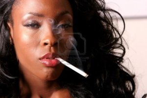 6925460-sexy-african-american-young-woman-smoking-cigarette